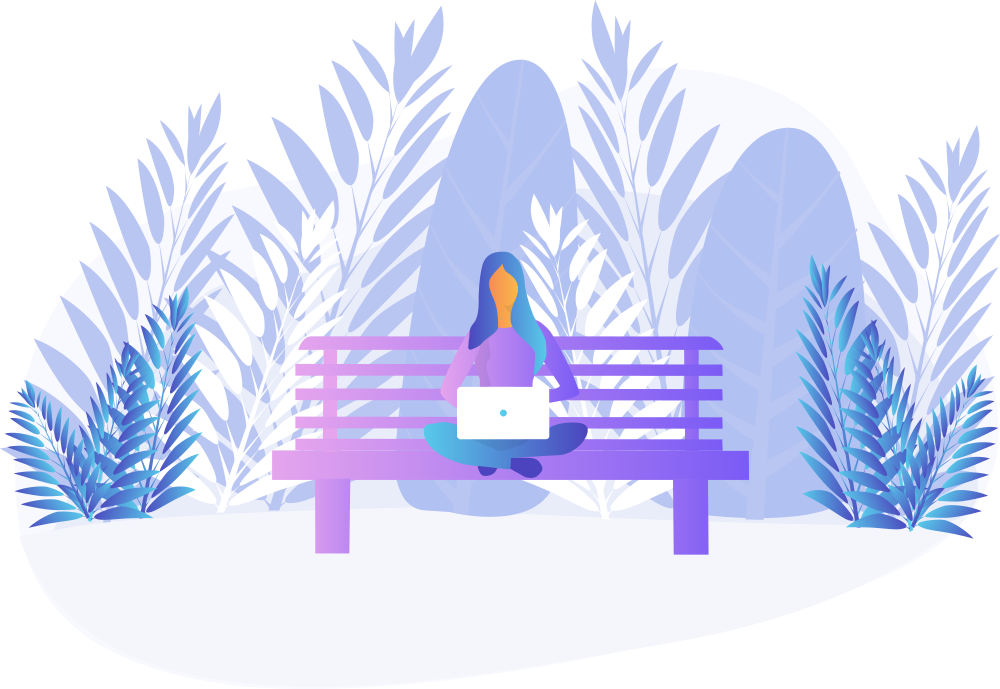 person on a bench
